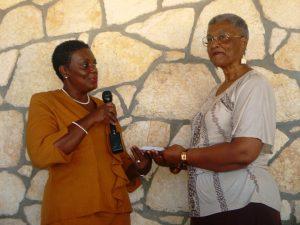 Award presentation from Chefs of Antigua through Hutchinson-Dec2013
