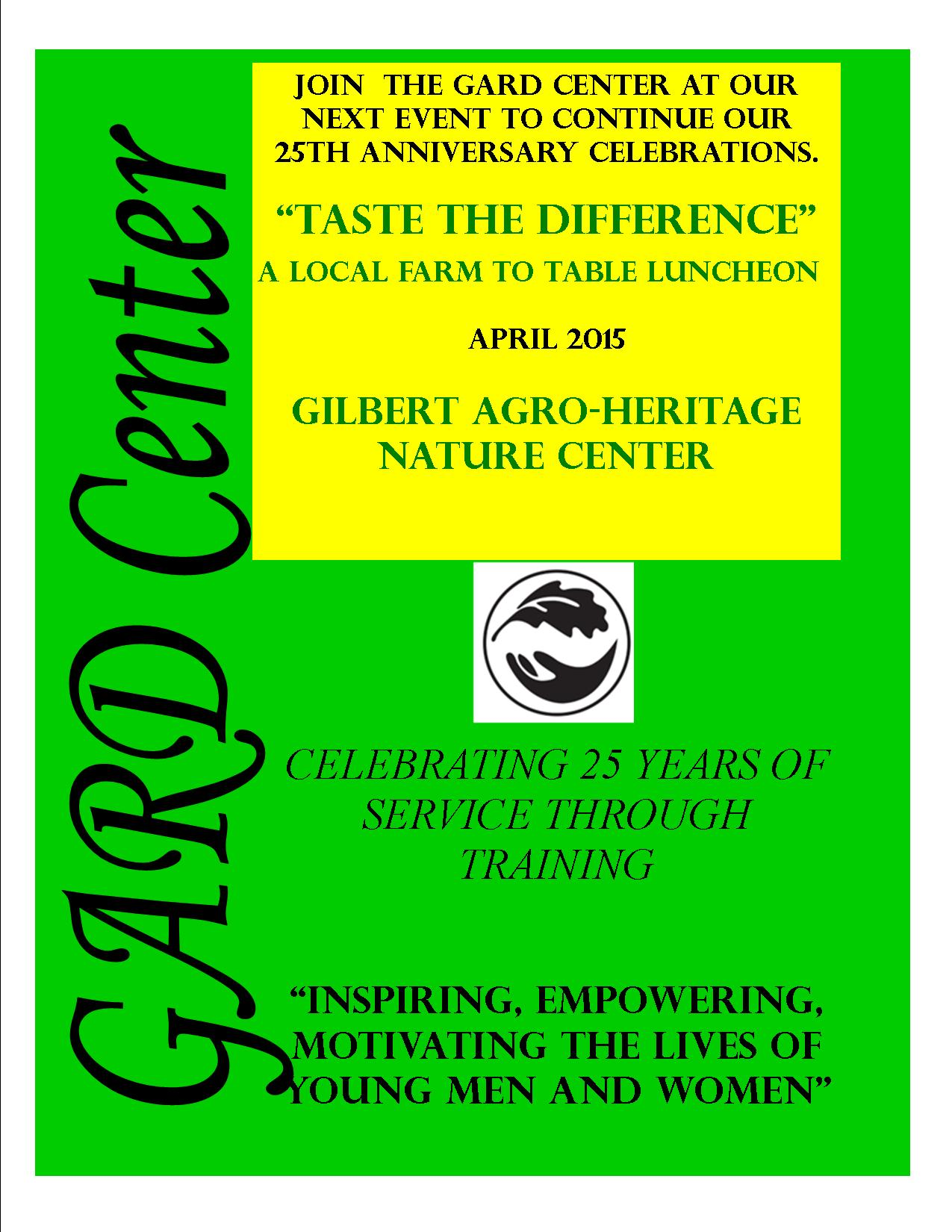 GARD Center 25th Anniversary Farm-to-Table April 2015