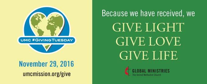 Giving Tuesday -29 November 2016